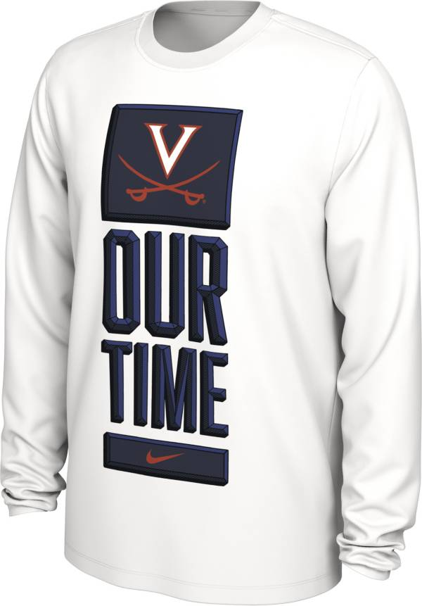 Nike Men's Virginia Cavaliers 'Our Time' Bench Long Sleeve White T-Shirt product image