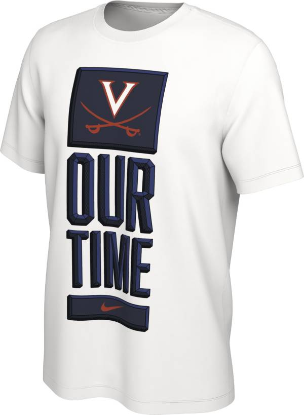 Nike Men's Virginia Cavaliers 'Our Time' Bench White T-Shirt product image