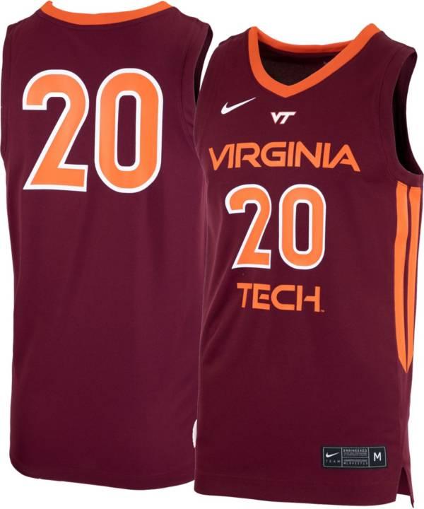 Nike Men's Virginia Tech Hokies #20 Maroon Replica Basketball Jersey