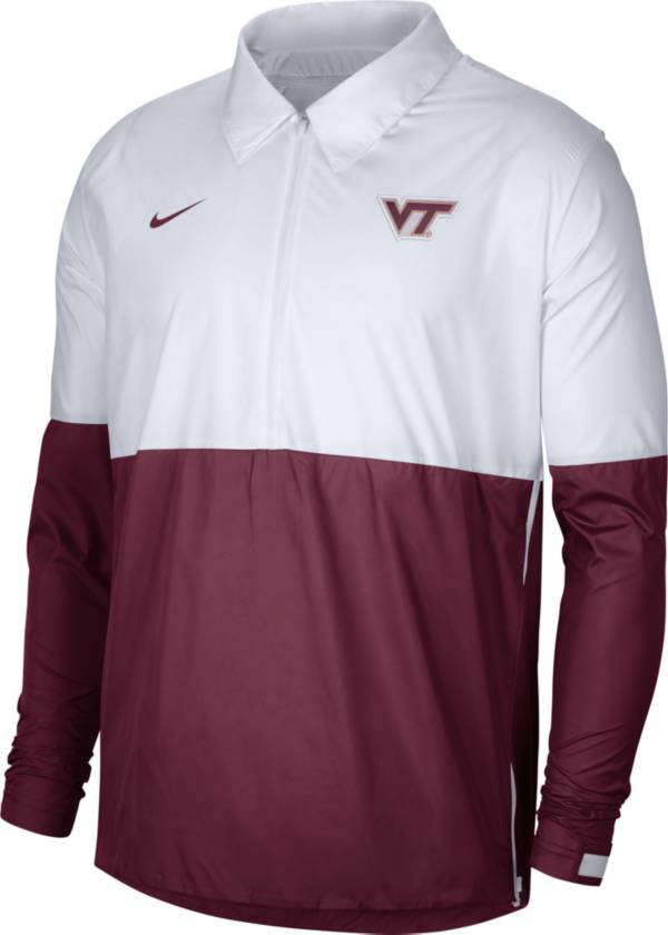 Nike Men's Virginia Tech Hokies White/Maroon Lightweight Football Coach's Jacket product image