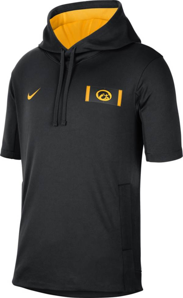 Nike Men's Iowa Hawkeyes Showout Short Sleeve Black Hoodie product image