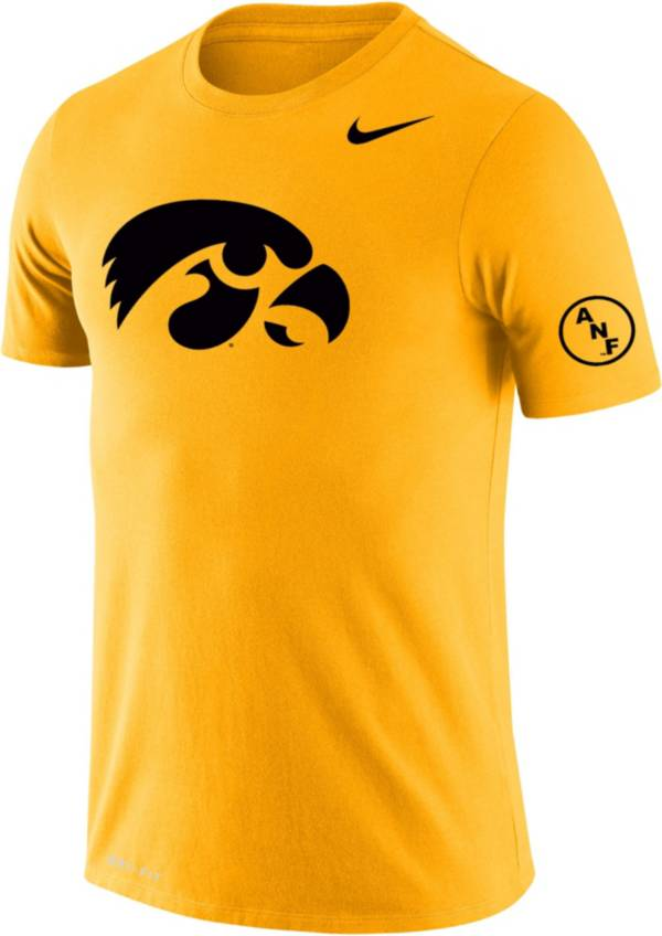 Nike Men's Iowa Hawkeyes Gold ANF Cotton T-Shirt product image