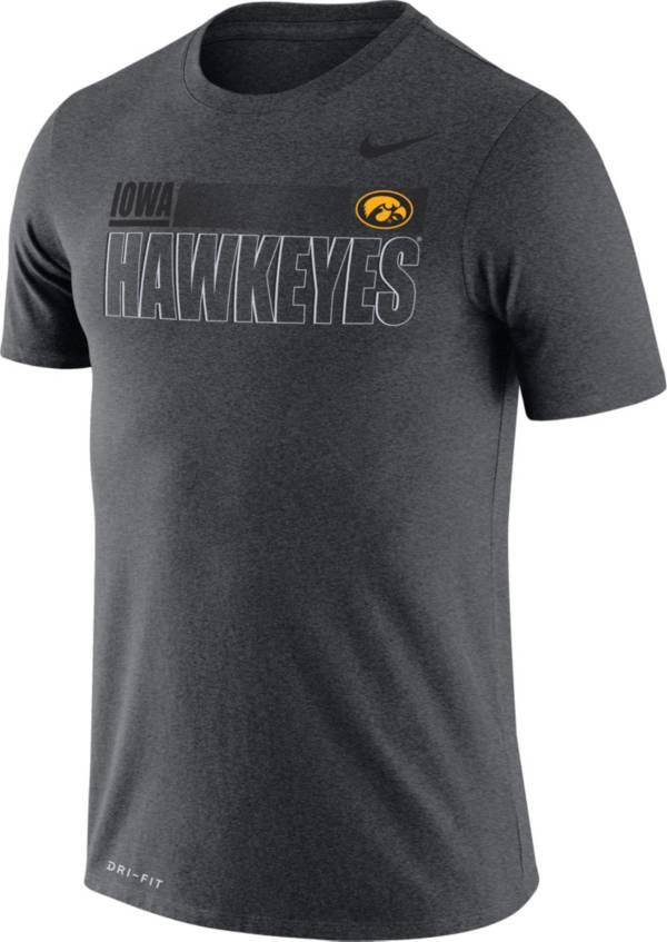 Nike Men's Iowa Hawkeyes Grey Legend Team Issue Football T-Shirt product image