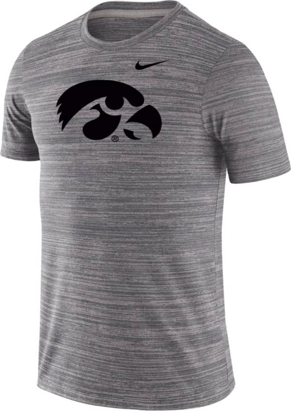 Nike Men's Iowa Hawkeyes Grey Velocity Performance T-Shirt product image