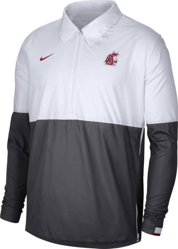 Nike Men's Washington State Cougars White/Grey Lightweight Football Coach's Jacket product image