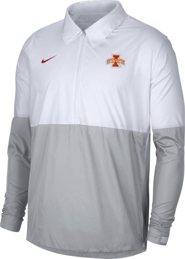 Nike Men's Iowa State Cyclones White/Grey Lightweight Football Coach's Jacket product image