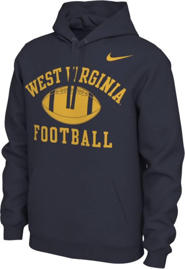 Nike Men's West Virginia Mountaineers Blue Pullover Football Hoodie product image