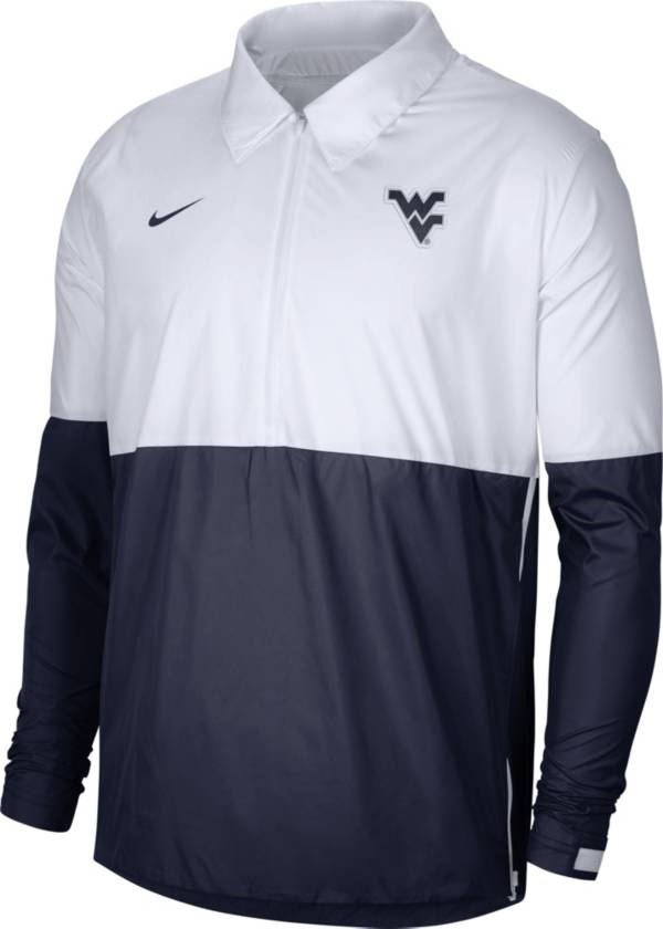 Nike Men's West Virginia Mountaineers White/Blue Lightweight Football Coach's Jacket product image