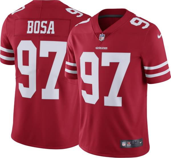 Nike Men's San Francisco 49ers Nick Bosa #97 Home Red Limited Jersey product image