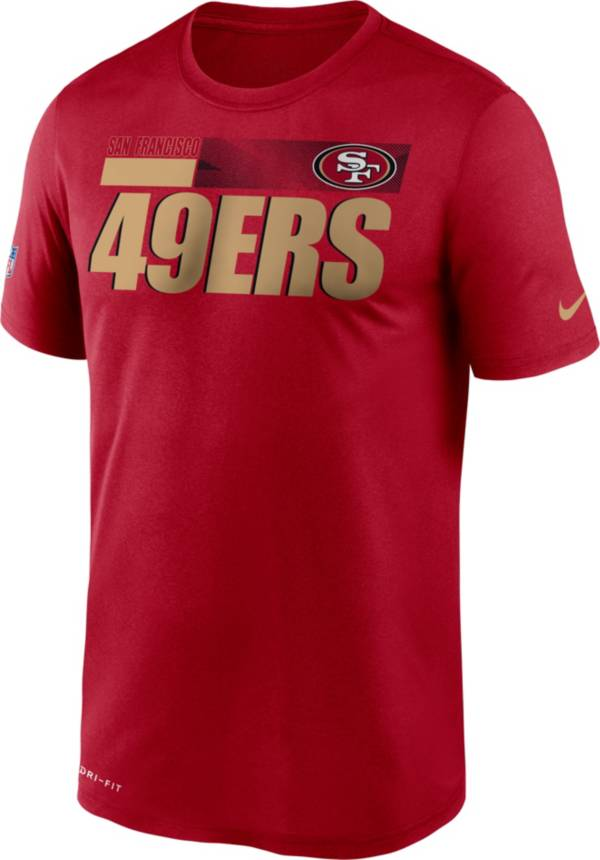Nike Men's San Francisco 49ers Legend Performance Red T-Shirt product image