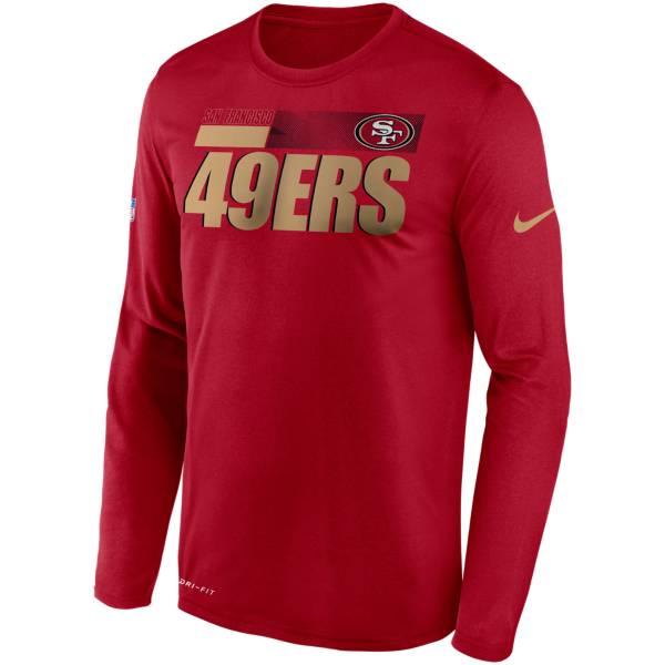 Nike Men's San Francisco 49Ers Sideline Long Sleeve T-Shirt product image