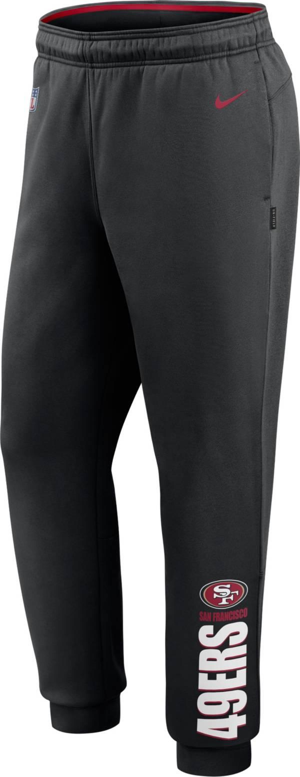 Nike Men's San Francisco 49ers Sideline Therma-FIT Performance Black Pants product image