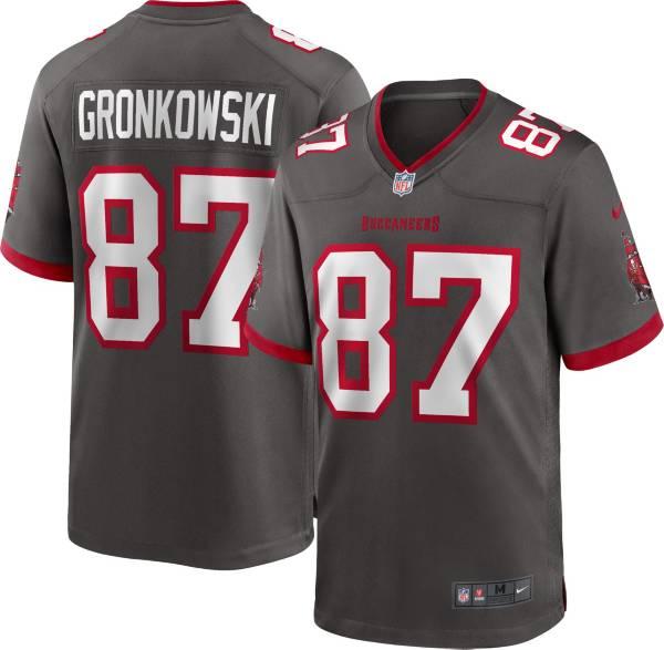 Nike Men's Tampa Bay Buccaneers Rob Gronkowski #87 Pewter Game Jersey product image