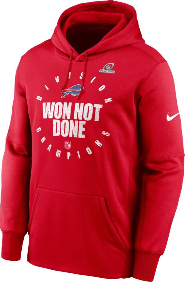 Nike Men's Buffalo Bills AFC East Division Champions Red Pullover Hoodie product image