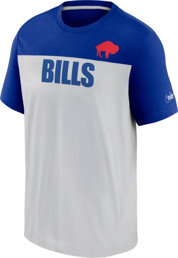 Nike Men's Buffalo Bills Silver Rewind Historic Wordmark Colorblock T-Shirt product image