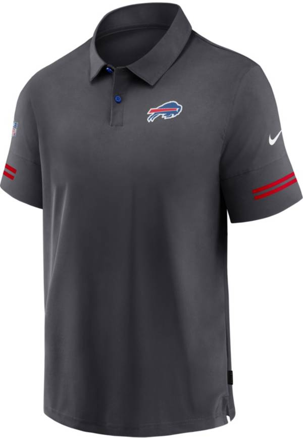 Nike Men's Buffalo Bills Coaches Sideline Anthracite Polo product image