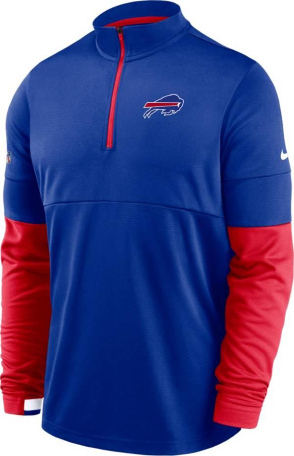 Nike Men's Buffalo Bills Sideline Coach Performance Royal Half-Zip Pullover product image