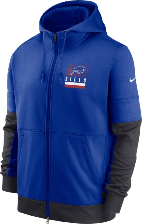 Nike Men's Buffalo Bills Sideline Lock Up Full-Zip Royal Hoodie product image