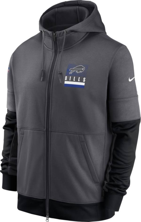Nike Men's Buffalo Bills Sideline Lock Up Full-Zip Anthracite Hoodie product image