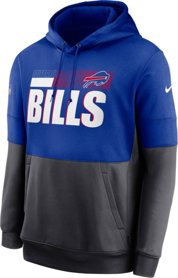 Nike Men's Buffalo Bills Sideline Lock Up Pullover Royal Hoodie product image