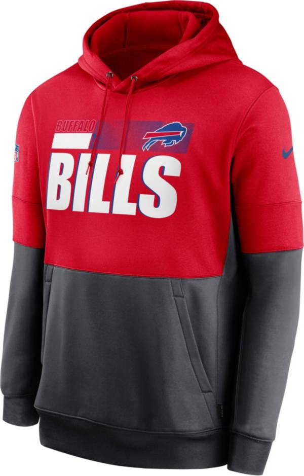 Nike Men's Buffalo Bills Sideline Lock Up Pullover Red Hoodie product image