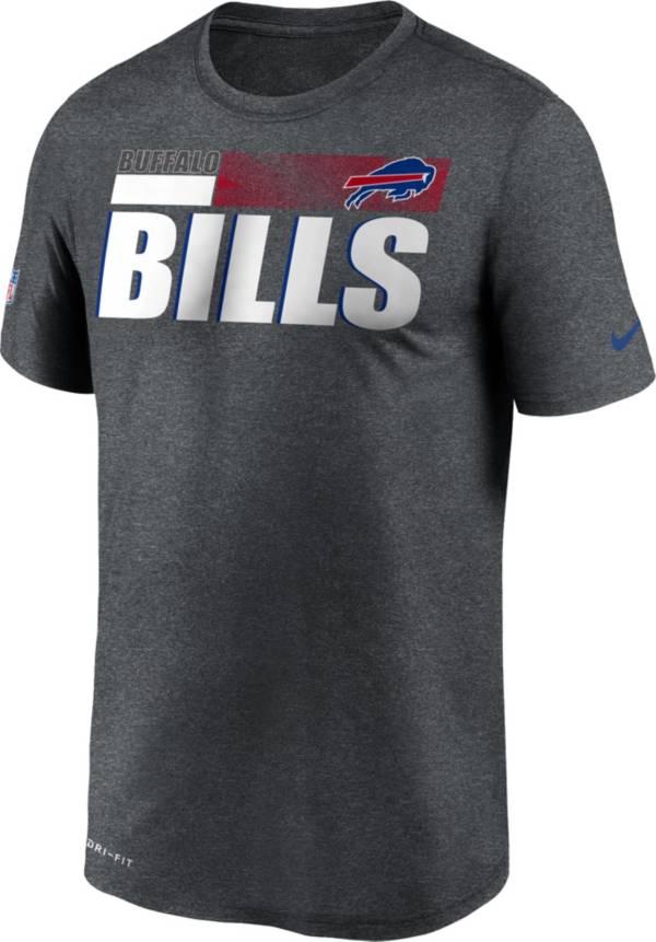 Nike Men's Buffalo Bills Charcoal Heather Legend Sideline T-Shirt product image