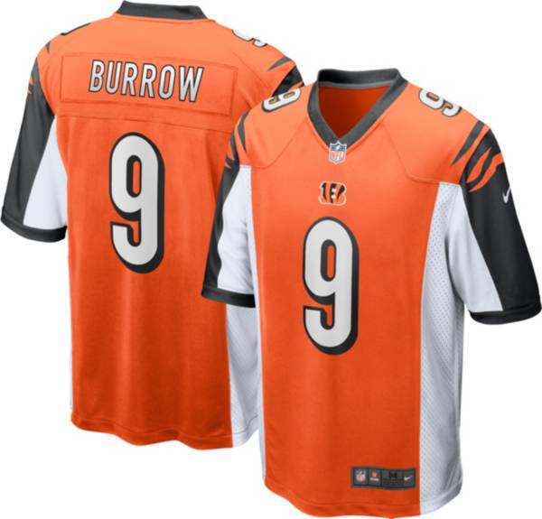 Nike Men's Cincinnati Bengals Joe Burrow #9 Orange Game Jersey