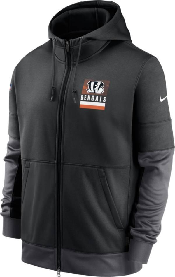 Nike Men's Cincinnati Bengals Sideline Lock Up Full-Zip Black Hoodie product image