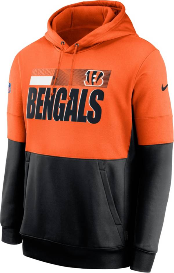 Nike Men's Cincinnati Bengals Sideline Lock Up Pullover Orange Hoodie product image