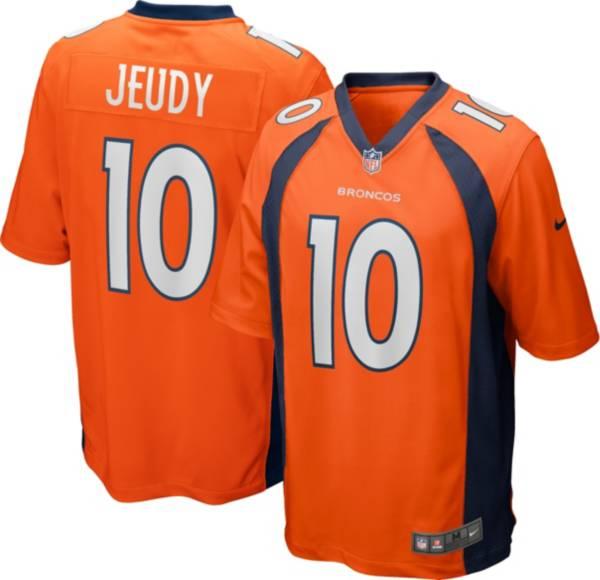 Nike Men's Denver Broncos Jerry Jeudy #10 Home Orange Game Jersey product image