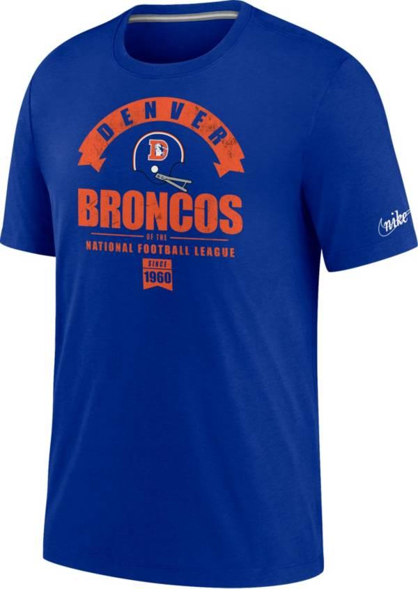 Nike Men's Denver Broncos Old Royal Rewind Historic Tri-Blend T-Shirt product image