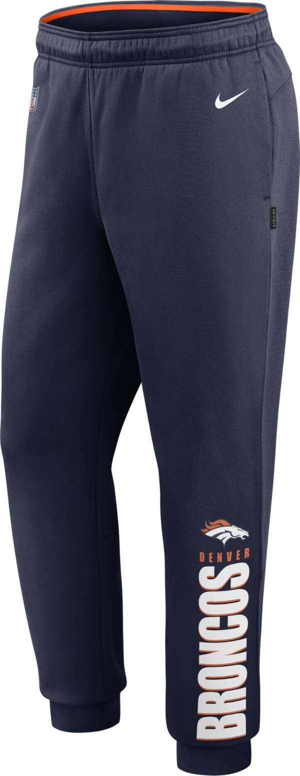 Nike Men's Denver Broncos Sideline Therma-FIT Performance Navy Pants product image