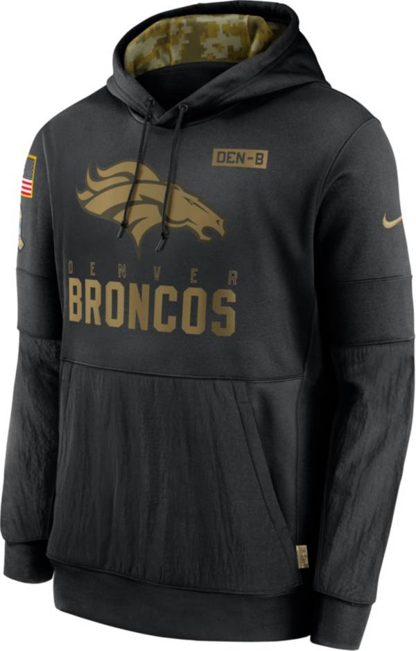 Nike Men's Salute to Service Denver Broncos Black Therma-FIT Pullover Hoodie product image
