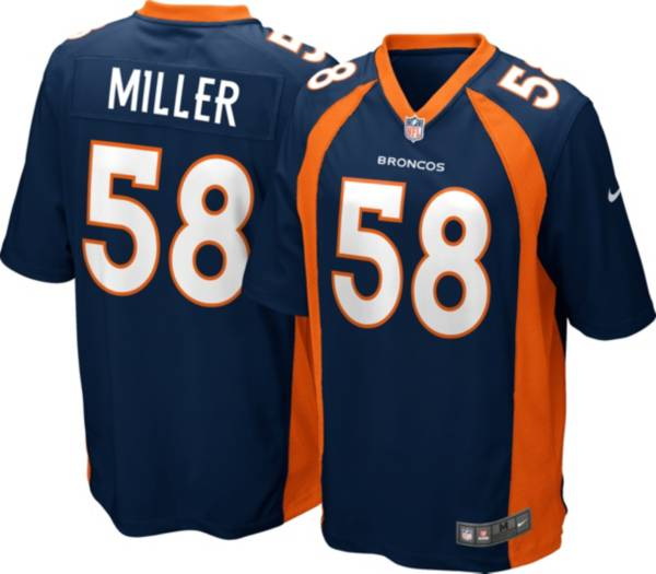 Nike Men's Denver Broncos Von Miller #58 Navy Game Jersey product image