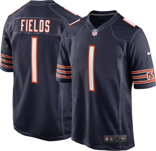 Nike Men's Chicago Bears Justin Fields #1 Navy Game Jersey product image