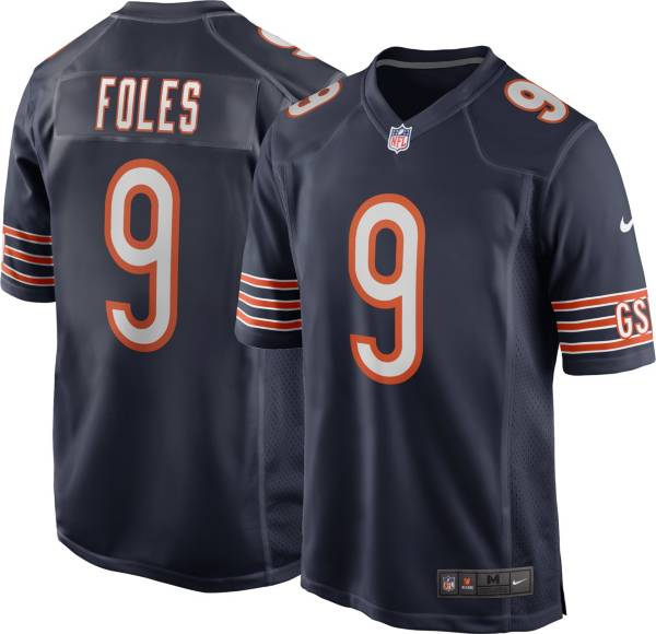 Nike Men's Chicago Bears Nick Foles #9 Home Navy Game Jersey product image