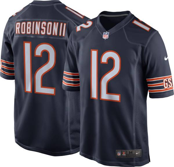 Nike Men's Chicago Bears Allen Robinson #12 Home Navy Game Jersey product image