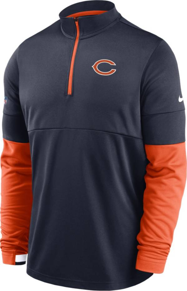 Nike Men's Chicago Bears Sideline Coach Performance Navy Half-Zip Pullover product image