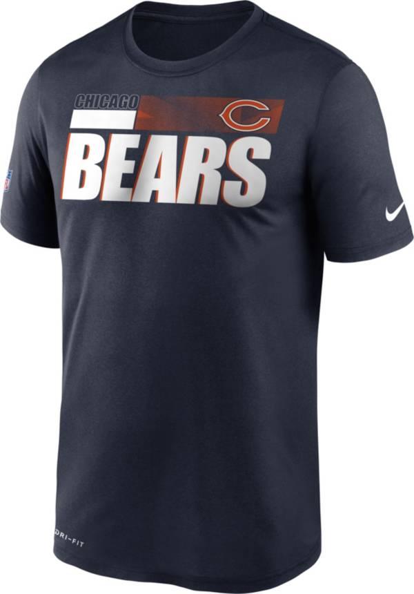 Nike Men's Chicago Bears Legend Performance Navy T-Shirt product image