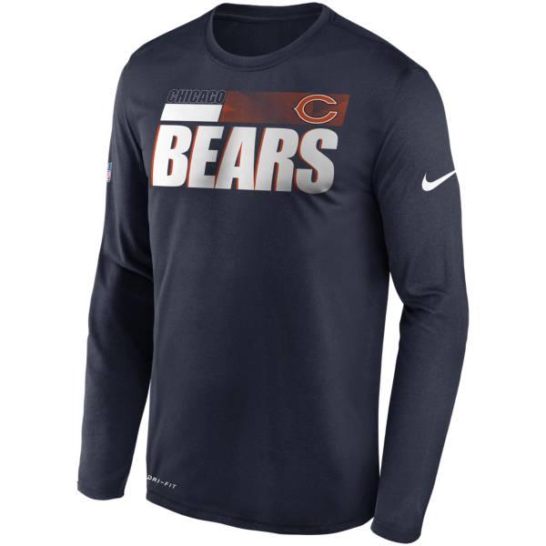 Nike Men's Chicago Bears Sideline Coach Long-Sleeve T-Shirt product image