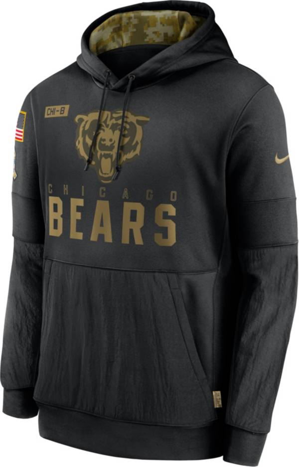Nike Men's Salute to Service Chicago Bears Black Therma-FIT Pullover Hoodie product image