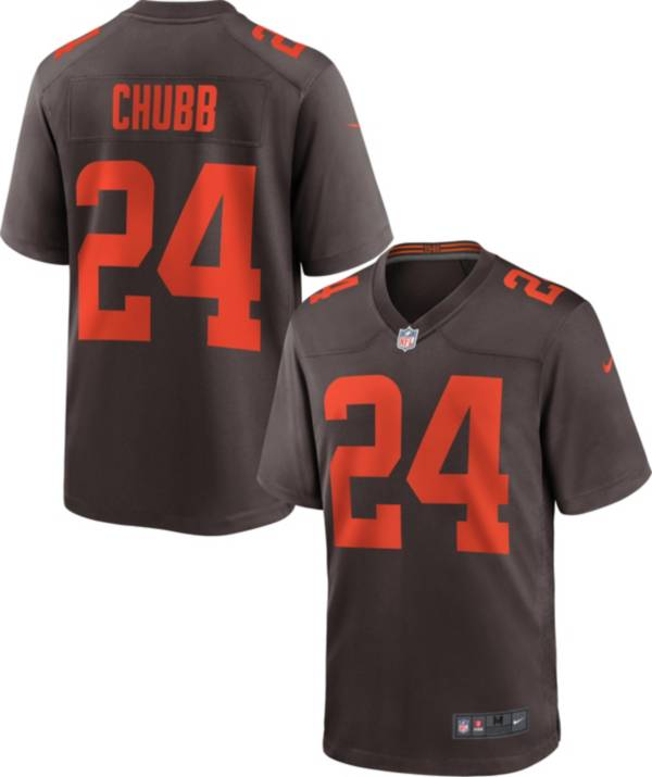 Nike Men's Cleveland Browns Nick Chubb #24 Seal Brown Game Jersey product image