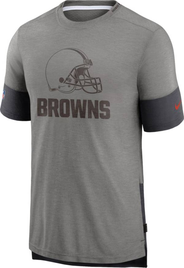 Nike Men's Cleveland Browns Grey Sideline Player T-Shirt product image