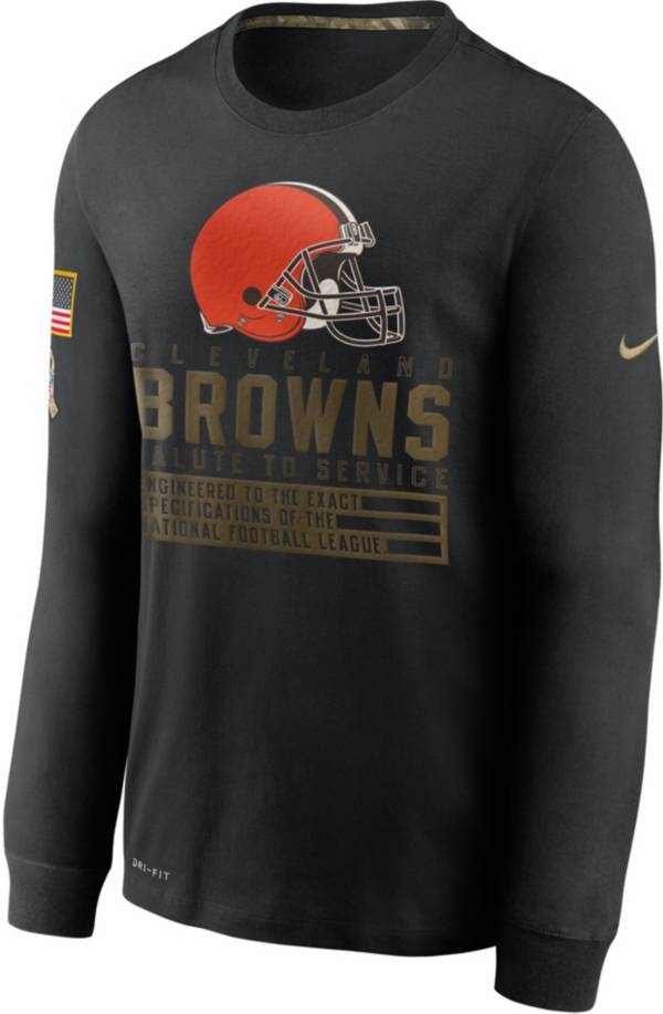 Nike Men's Salute to Service Cleveland Browns Black Long Sleeve T-Shirt product image