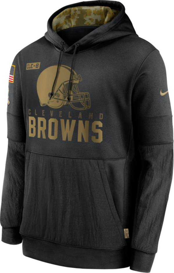 Nike Men's Salute to Service Cleveland Browns Black Therma-FIT Pullover Hoodie product image