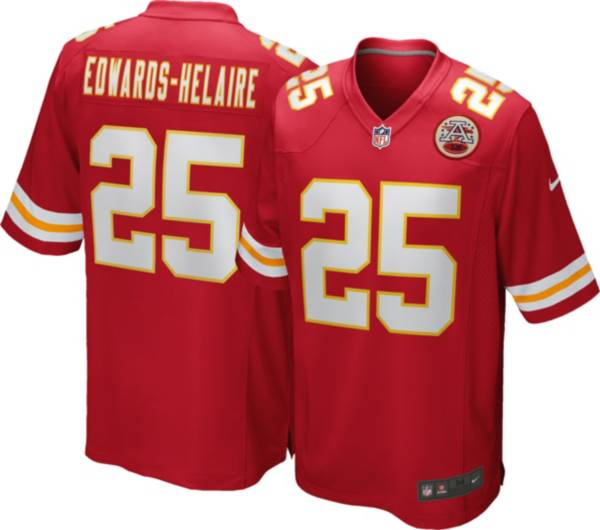 Nike Men's Kansas City Chiefs Clyde Edwards-Helaire #25 Red Game Jersey product image