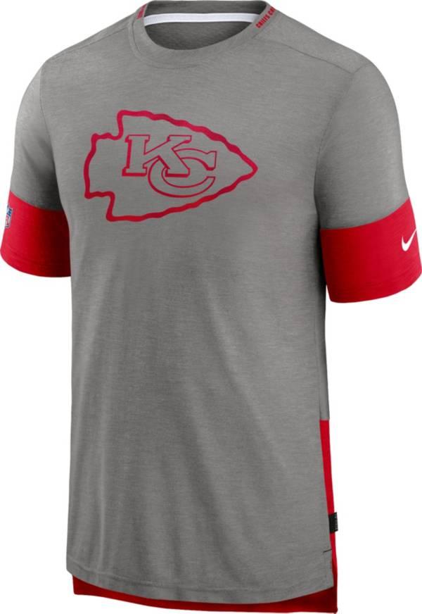 Nike Men's Kansas City Chiefs Grey Sideline Player T-Shirt product image