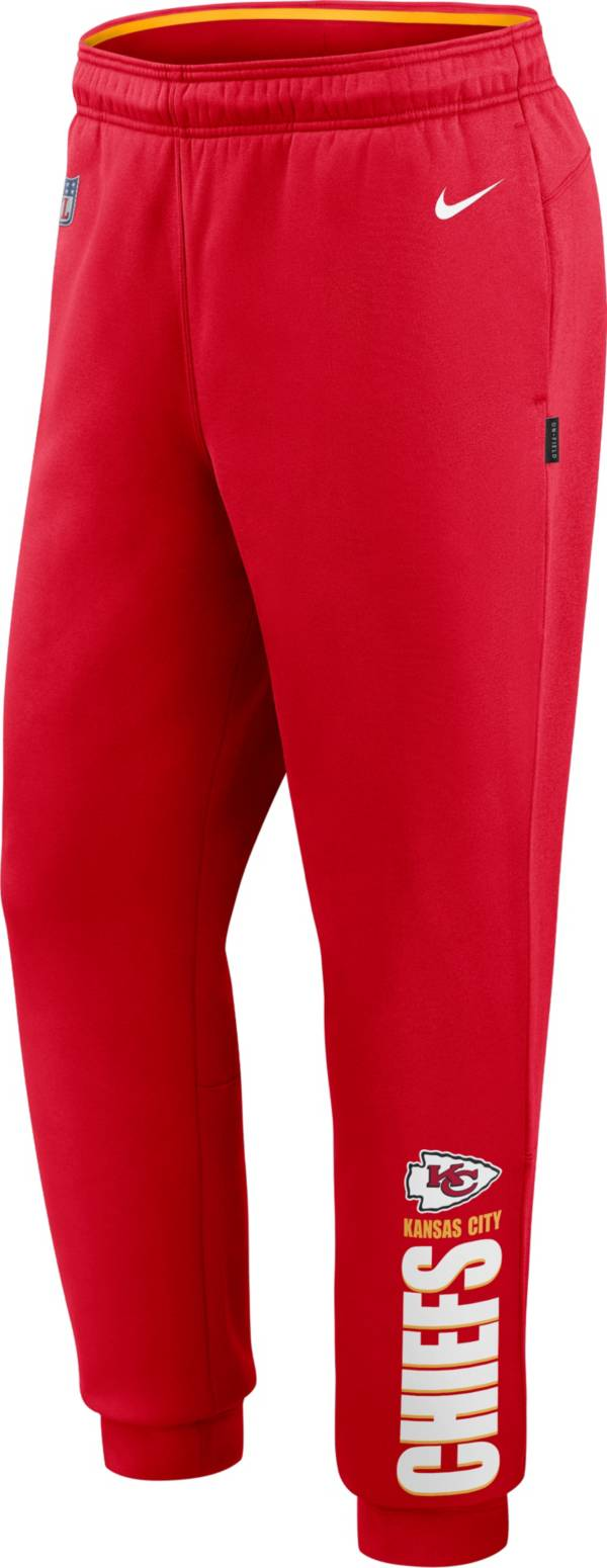 Nike Men's Kansas City Chiefs Sideline Therma-FIT Performance Red Pants product image