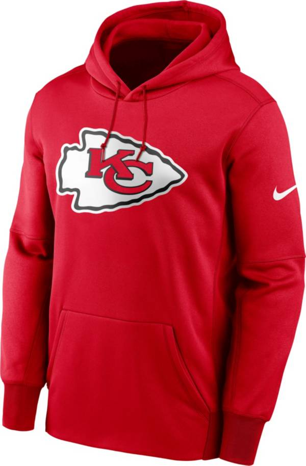 Nike Men's Kansas City Chiefs Sideline Therma-FIT Red Pullover Hoodie product image