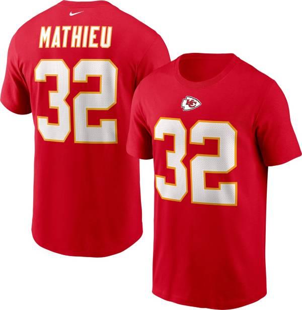 Nike Men's Kansas City Chiefs Tyrann Mathieu #32 Legend Red T-Shirt product image
